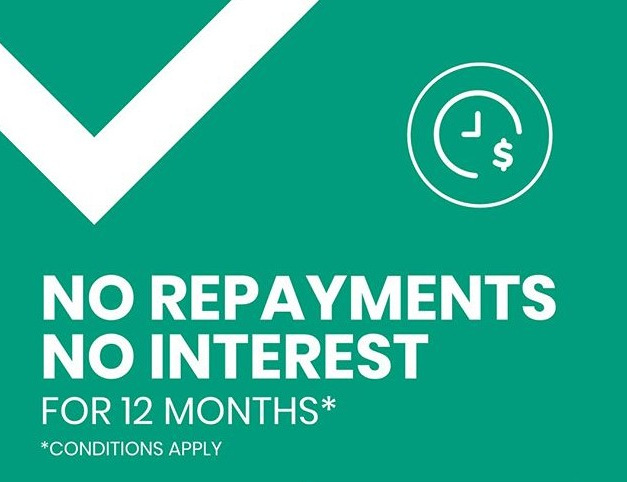 No Repayments No Interest