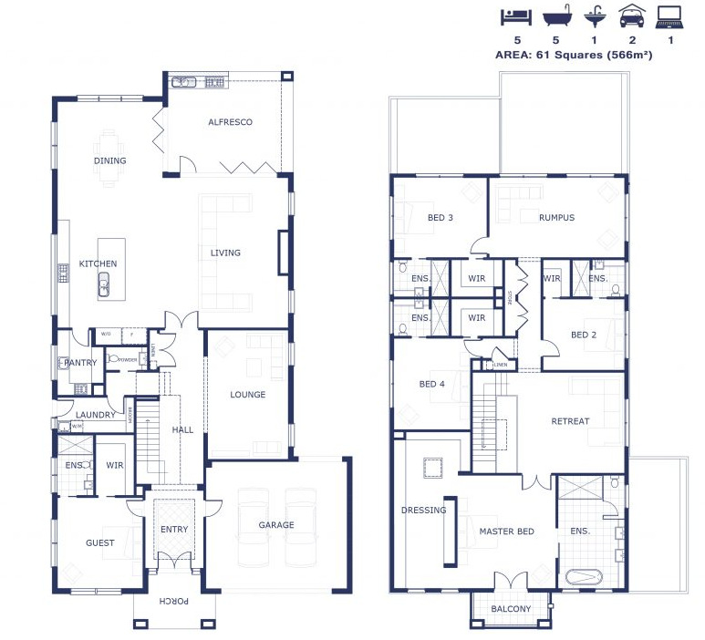 Floor Plan - Rose manor